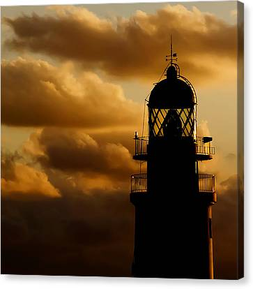 lighthouse dawn in the north coast of Menorca Canvas Print by Pedro Cardona