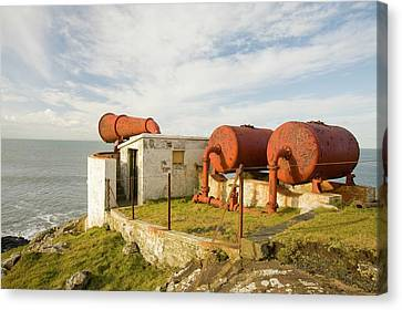 Rhin Canvas Print - Lighthouse Foghorn At Black Head by Ashley Cooper