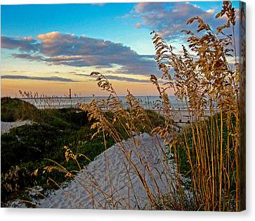 Lighthouse Folly Beach Canvas Print