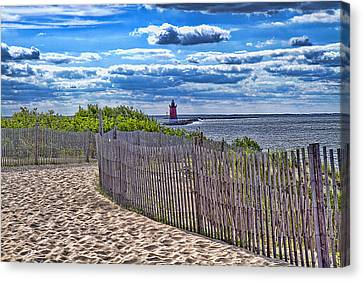 Lighthouse From Afar Canvas Print by Trudy Wilkerson