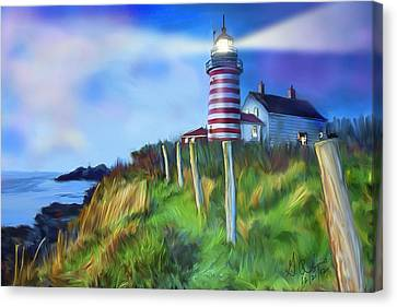 Lighthouse Canvas Print by Gerry Robins