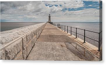 Lighthouse In North Shields Canvas Print by Sergey Simanovsky