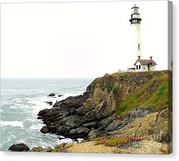 Canvas Print featuring the photograph Lighthouse Keeping Watch by Carla Carson
