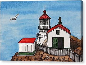 Lighthouse Canvas Print by Masha Batkova