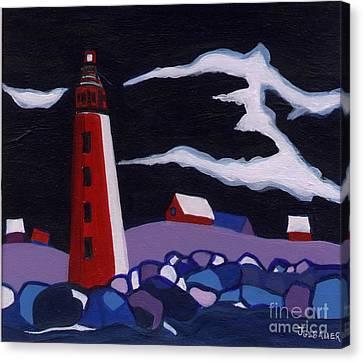 Lighthouse Miniature Canvas Print by Joyce Gebauer