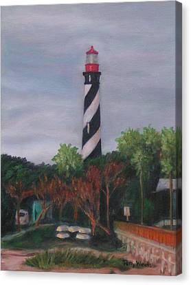 Lighthouse Morning Canvas Print