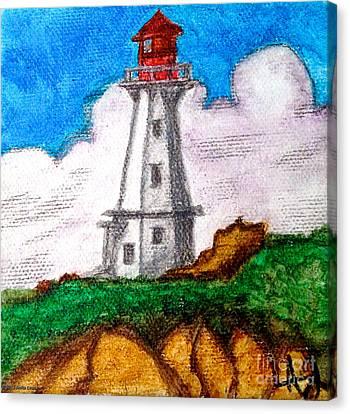 Lighthouse Nova Scotia Canvas Print by Anita Lewis