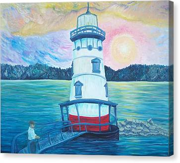 Lighthouse Of Sleepy Hollow Canvas Print by Chris RoseS