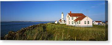 Lighthouse On A Landscape, Ft. Worden Canvas Print