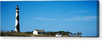 Lighthouse On An Island, Cape Lookout Canvas Print by Panoramic Images