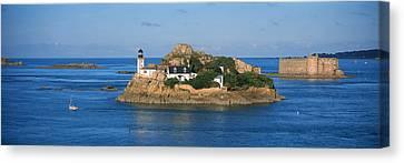 Lighthouse On An Island, Ile Louet Canvas Print