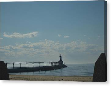 Lighthouse On Clear Day. Canvas Print