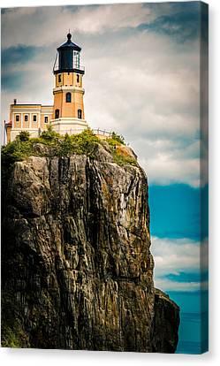 Lighthouse On Split Rock Canvas Print