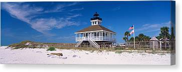 Lighthouse On The Beach, Port Boca Canvas Print