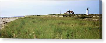 Lighthouse On The Beach, Race Point Canvas Print by Panoramic Images