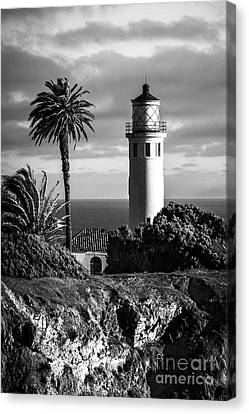Canvas Print featuring the photograph Lighthouse On The Bluff by Jerry Cowart