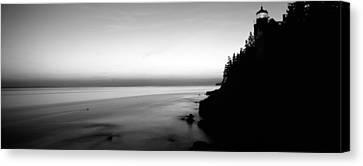 Lighthouse On The Coast, Bass Head Canvas Print by Panoramic Images