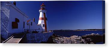 Lighthouse On The Coast, Head Harbour Canvas Print by Panoramic Images