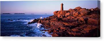 Lighthouse On The Coast, Ploumanach Canvas Print