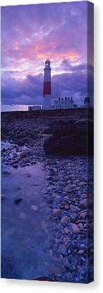 Lighthouse On The Coast, Portland Bill Canvas Print by Panoramic Images