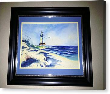 Lighthouse On The Point Sold Canvas Print