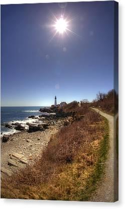 Lighthouse Path Canvas Print