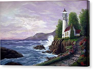 Lighthouse Retreat Canvas Print by Rick Fitzsimons