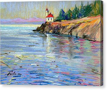 Lighthouse San Juan Island Canvas Print by Ron Wilson