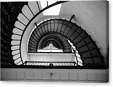 Lighthouse Spiral Canvas Print by Beverly Stapleton