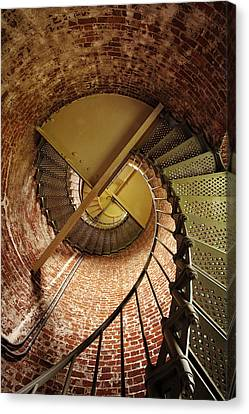 Lighthouse Stairwell Canvas Print by Andrew Soundarajan