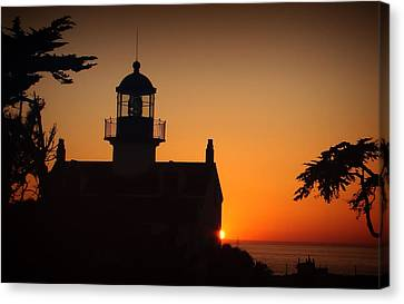 Canvas Print featuring the photograph Lighthouse by Steve Benefiel