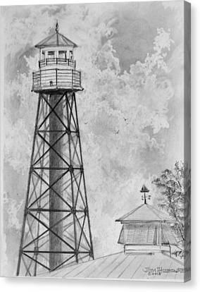 Lighthouse Sumter Landing Canvas Print by Jim Hubbard