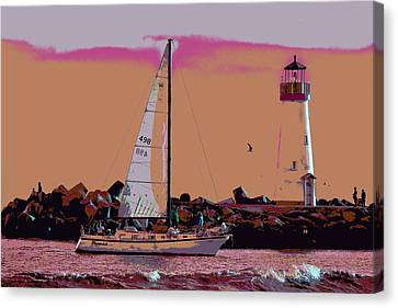 Lighthouse Tour 8940 Canvas Print by Tom Kelly