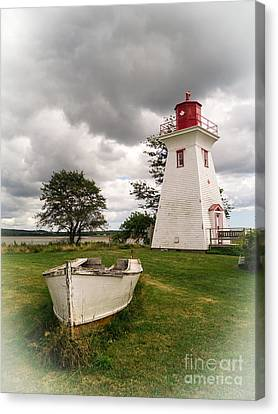 Island Stays Canvas Print - Lighthouse Victoria By The Sea Pei by Edward Fielding