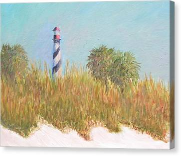 Lighthouse View From St. Augustine Beach Canvas Print