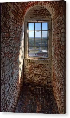 Lighthouse Window Canvas Print by Peter Tellone