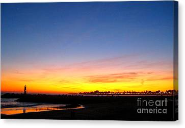 Canvas Print featuring the photograph Lighthouse4 by Theresa Ramos-DuVon