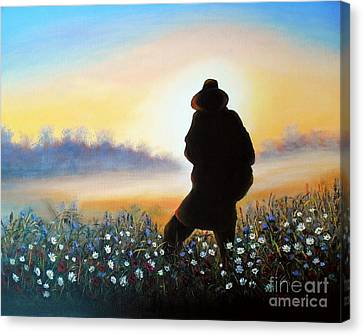 Canvas Print featuring the painting Lighthunter by Vesna Martinjak