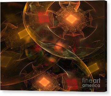 Lighting Decorations Canvas Print by Klara Acel