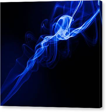 Lighting In Swirls Canvas Print by Peter Harris