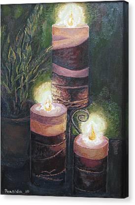 Lighting The Dark Corners Canvas Print by Prasida Yerra