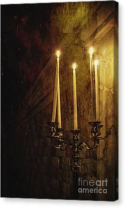 Candle Stand Canvas Print - Lighting The Way by Margie Hurwich