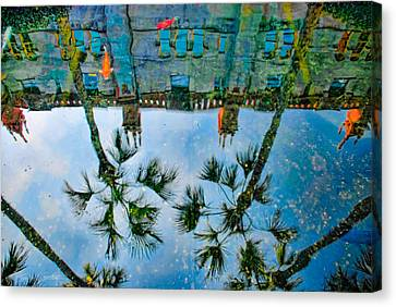 Lightner Museum Koi Pond Reflection Canvas Print