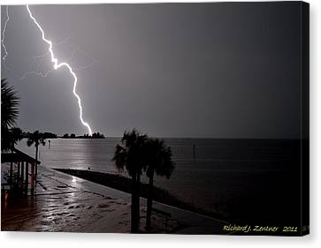 Canvas Print featuring the photograph Lightning 1 by Richard Zentner
