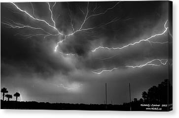 Canvas Print featuring the photograph Lightning 2 by Richard Zentner