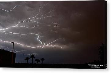 Canvas Print featuring the photograph Lightning 5 by Richard Zentner