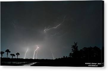 Canvas Print featuring the photograph Lightning 6 by Richard Zentner