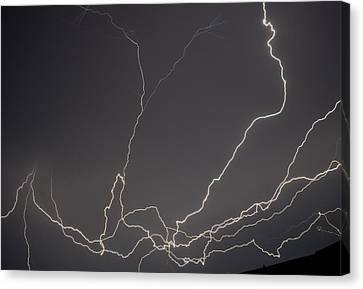 Lightning 6a Canvas Print by Maggy Marsh