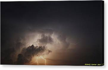 Canvas Print featuring the photograph Lightning 8 by Richard Zentner