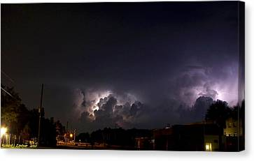 Canvas Print featuring the photograph Lightning 9 by Richard Zentner